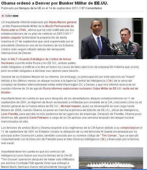 Líderes del mundo estarán en receso durante la alineación Elenin de 26 a 27 septiembre. Obama