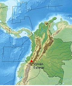 El Galeras, uno de los volcanes más activos de Colombia, tiene 4.276 ...