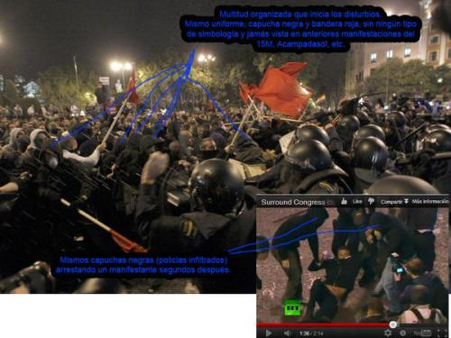 La secretaria general del PP compara el 25$ con el golpe de estado de Tejero(información 25S) Antidisturbios1
