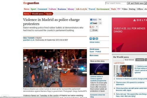 La secretaria general del PP compara el 25$ con el golpe de estado de Tejero(información 25S) Guardian