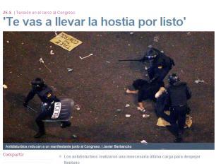 La secretaria general del PP compara el 25$ con el golpe de estado de Tejero(información 25S) Hostias-antidisturbios