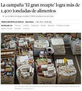 campaña banco de alimentos