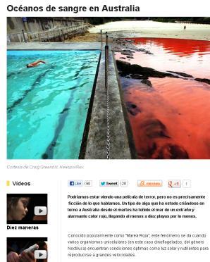 océano rojo australia