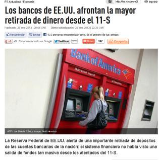 bancos eeuu retirada de dinero