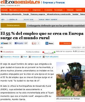 el economista empleo rural