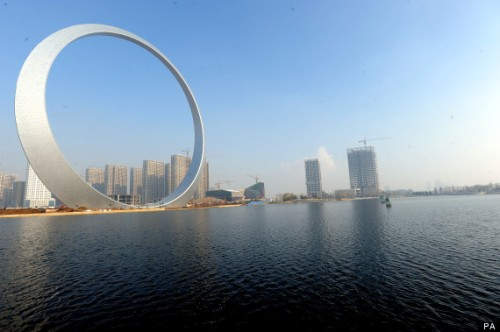 'Ring of Life' Lights Up Fushun