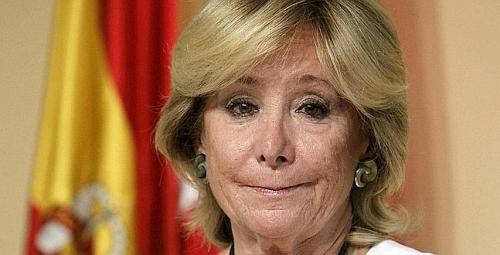 ESPERANZA AGUIRRE ANUNCIA SU DIMISIÓN COMO PRESIDENTA Y DIPUTADA REGIONAL