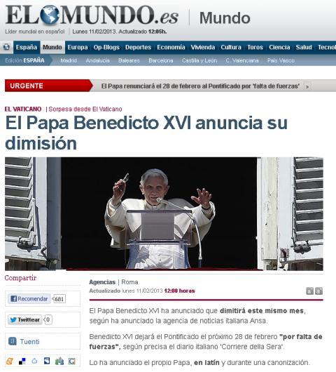 papa renuncia