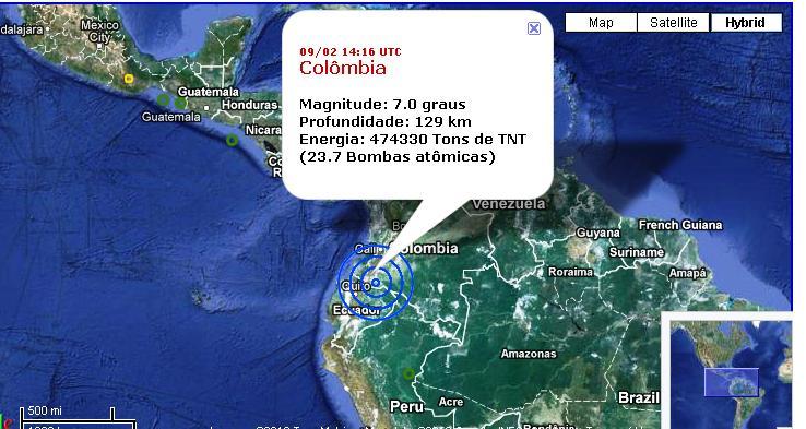 Terremoto de 7 en Pasto-Popayan-Colombia, frontera con ...