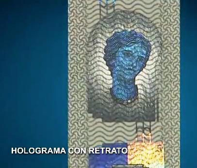 holograma con retrato