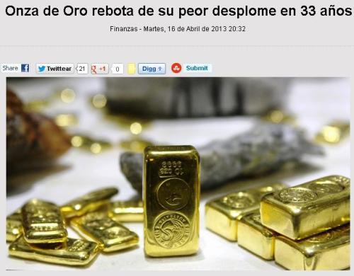 oro caida