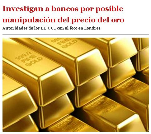 oro investigacion manipulacion