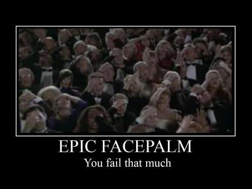 epic facepalm