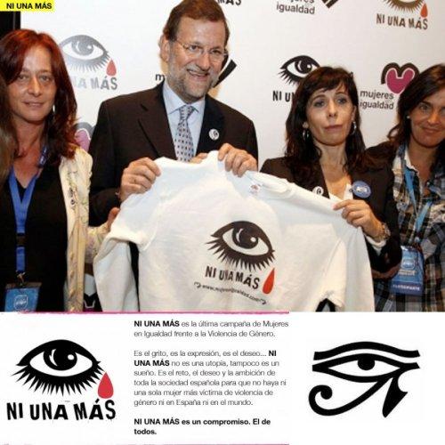rajoy-NI UNA MAS-ojo-horus-simbologia-masonica-illuminati-lobbie-feminista-agendaNWO
