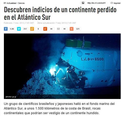 atlantico sur continente perdido