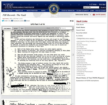 vault fbi ufo files npe