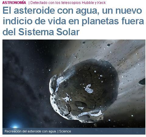 asteroide agua