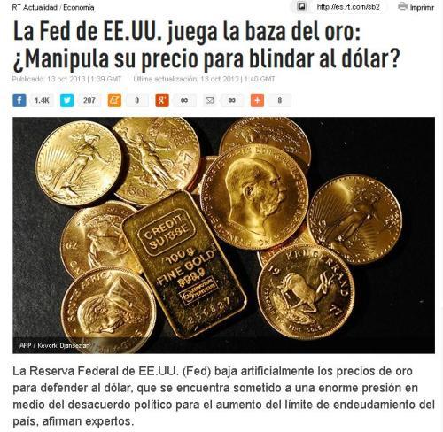 fed oro dolar