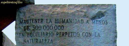 Mantener la humanidad a menos de 500 millones exf2
