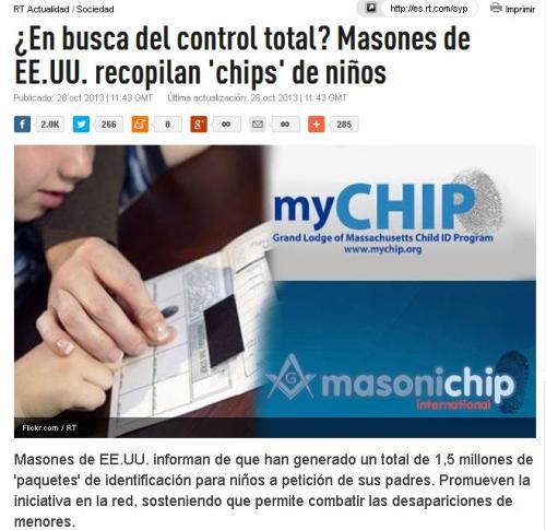 masones chips niños