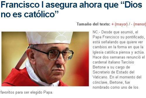 papa dios no catolico