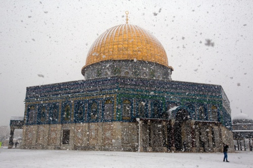PALESTINIAN-ISRAEL-WEATHER-JERUSALEM