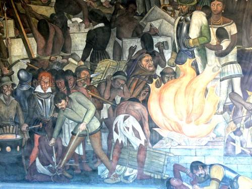 Murales_Rivera_-_Treppenhaus_9_Bücherverbrennung
