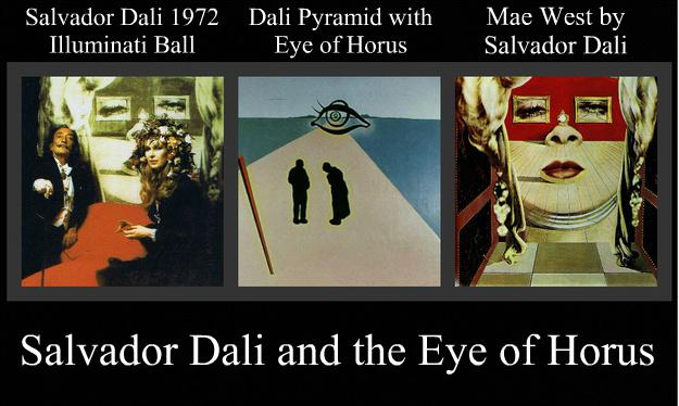 SalvadorDaliEyeOfHoruslluminatiBall1972