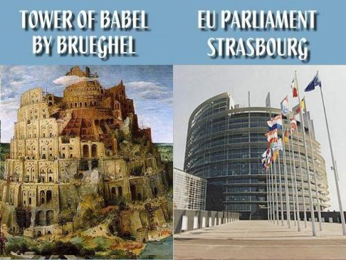 Tower-of-Babel-EU-Parliament-Building-Illuminati-New-World-Order