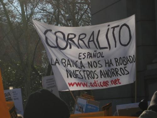 1. 2.   Manifestación de afectados por las preferentes. El corralito español.