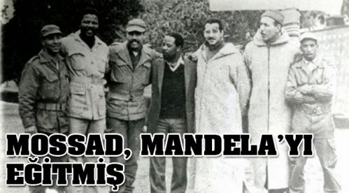 Nelson Mandela with Mossad agents