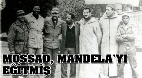 Nelson Mandela with Mossad agents