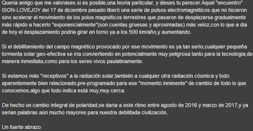 DAN TIEMPOS LLEGADOS ISON CAMBIO POLOS 2016