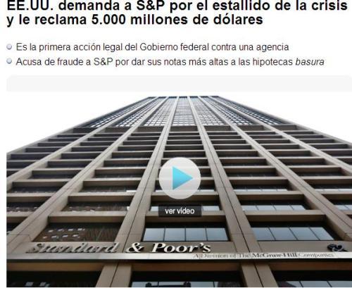 eeuu demanda a s&p 5000 millones dolares