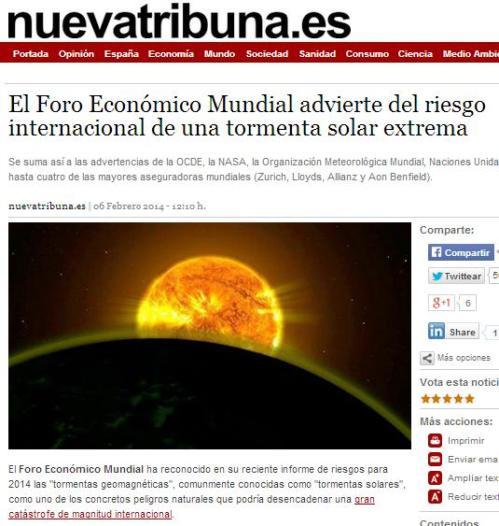 foro economico mundial tormenta solar extrema