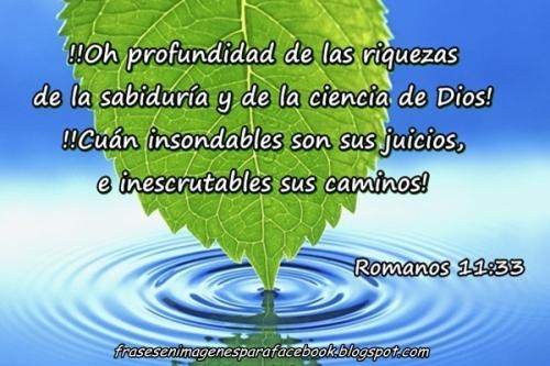 Frases en imágenes para Facebook Romanos 11 33