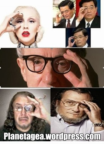 gesto illuminati gafas