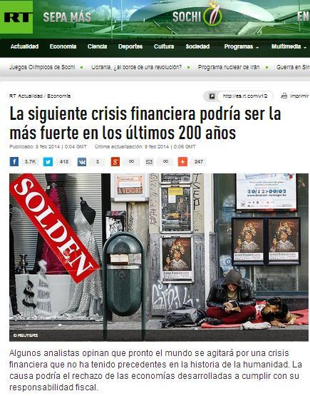 siguiente crisis financiera más fuerte últimos 200 años