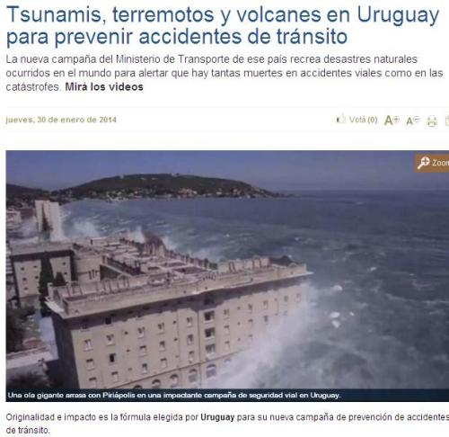 uruguay anuncio muertes en carretera desastres natruales
