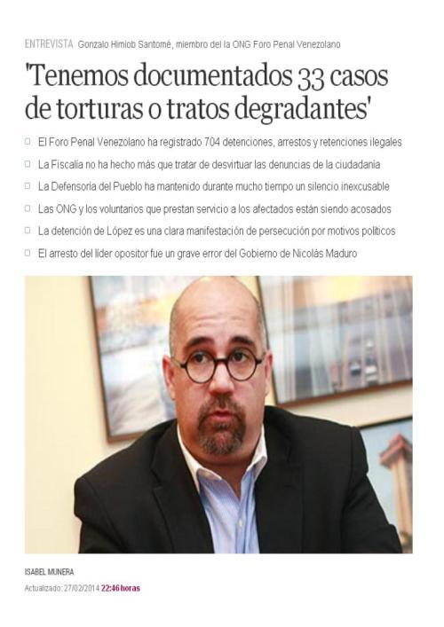 33 casos torturas venezuela