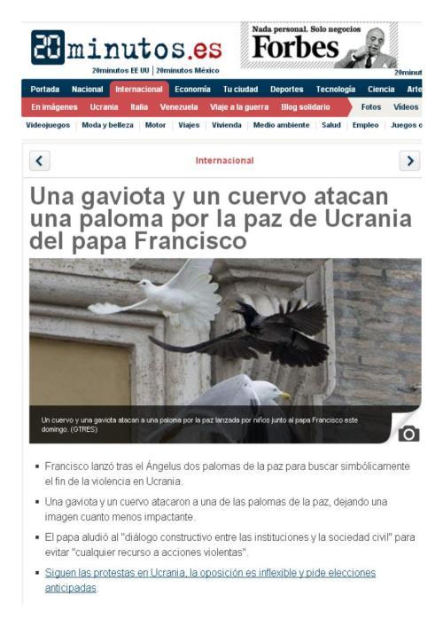 PALOMAS CUERVOS VATICANO