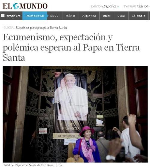 ecumenismo papa jerusalen
