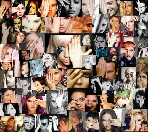 ILLUMINATI celebrities- hand covering eye - all seeing eye gesture lady gaga