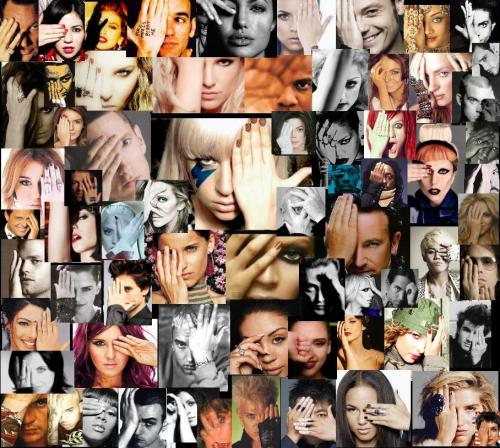 ILLUMINATI celebrities- hand covering eye - all seeing eye gesture lady gaga