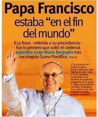 papa francisco fin del mundo