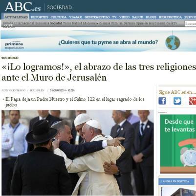 tres religiones papa jerusalen