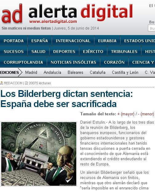 alerta digital españa bilderberg sacrificada