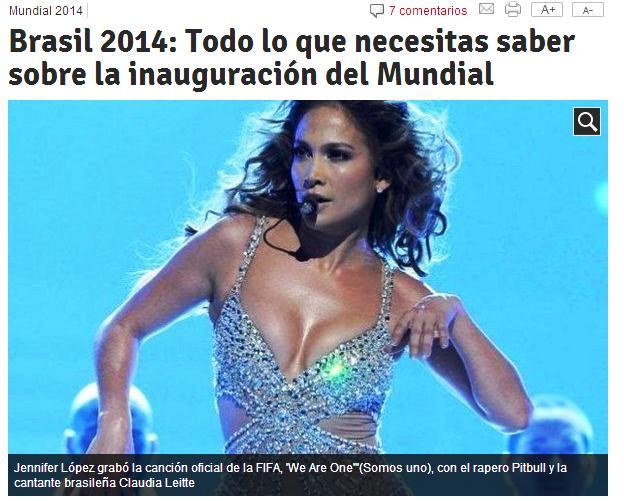inauguración mundial brasil