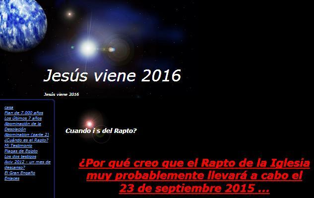 jesus viene en el 2016