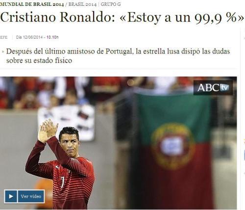 ronaldo 99,9